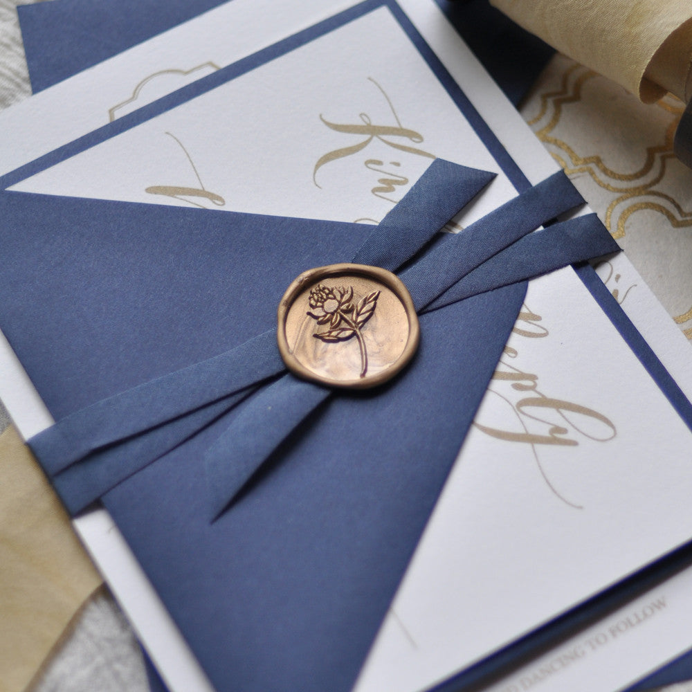 wax seal wedding invite