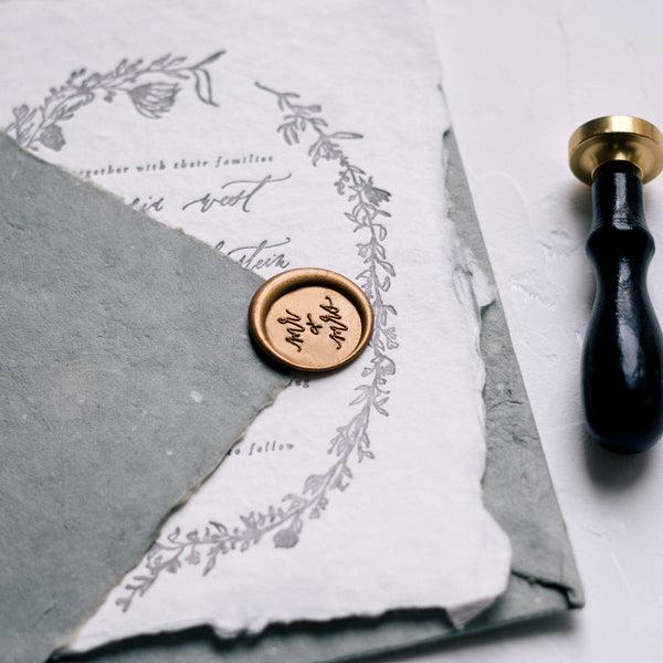 wedding husband and wife wax seal