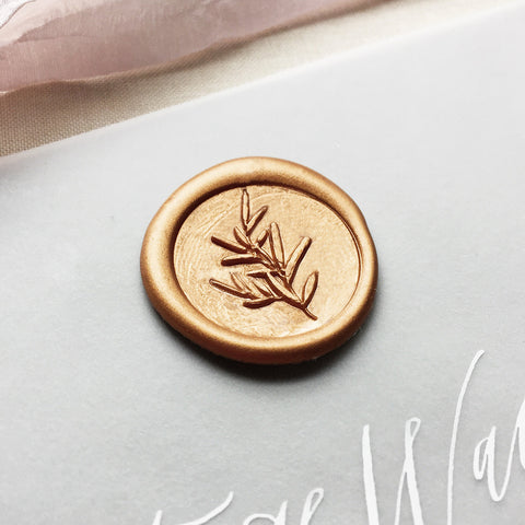 Sage Sprig Wax Seal