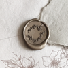wild flower wreath wax seal