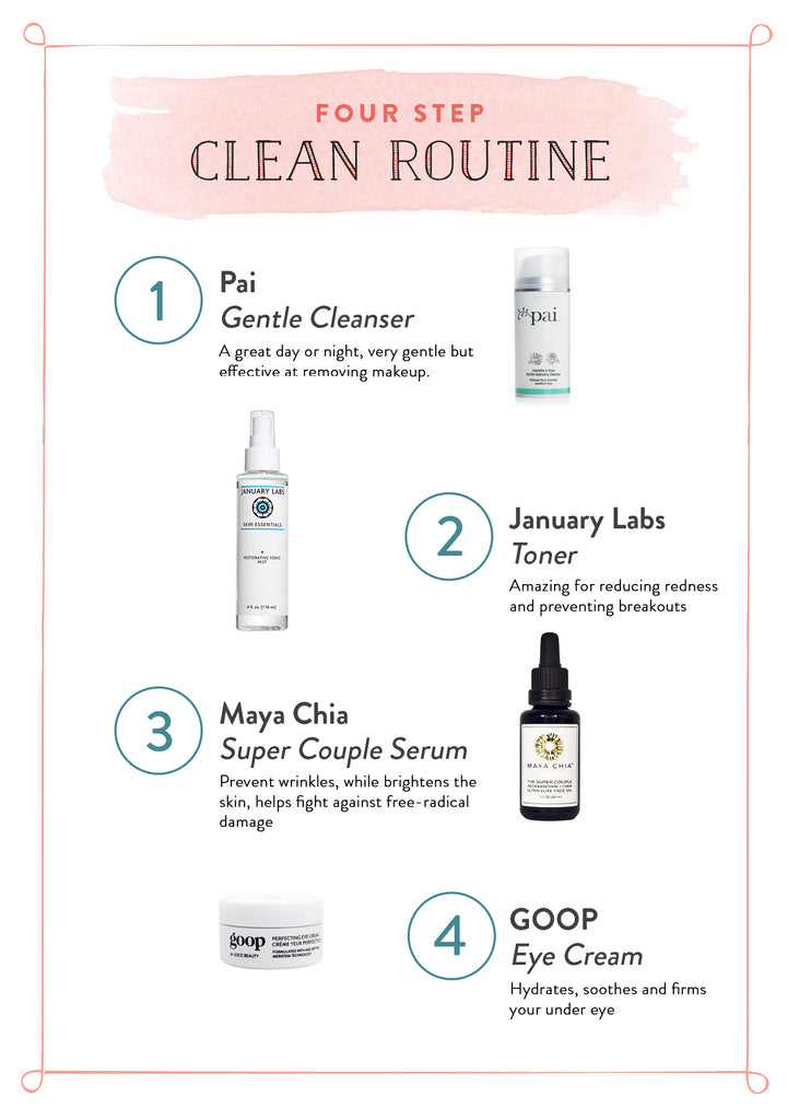 Fourt Step Clean Routine