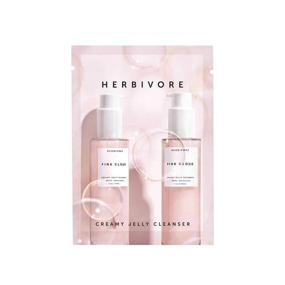 Sample Herbivore Pink Cloud Rosewater + Tremella Creamy Jelly Cleanser