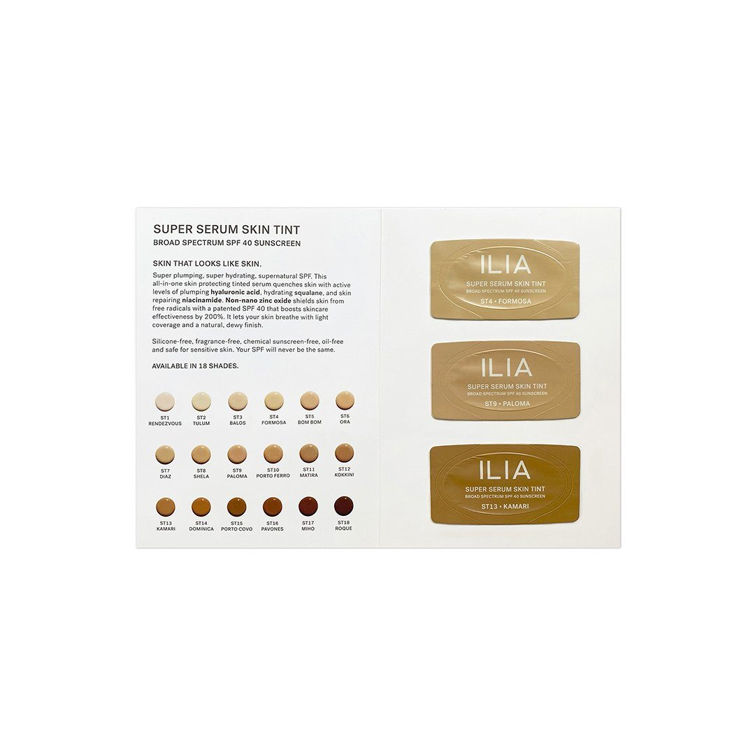 Sample Ilia True Skin Serum Foundation (3 shades SF-1.5, SF-6, SF-11)