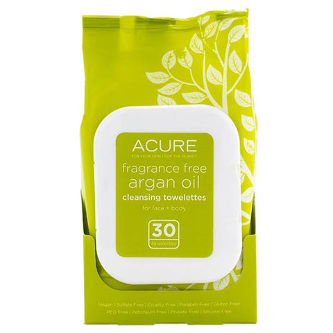 Argan Oil Cleansing Towelettes | Acure | Credo