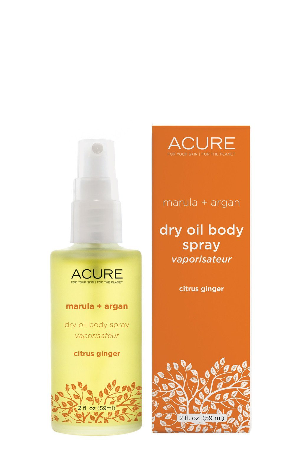 Citrus Ginger Dry Oil Spray