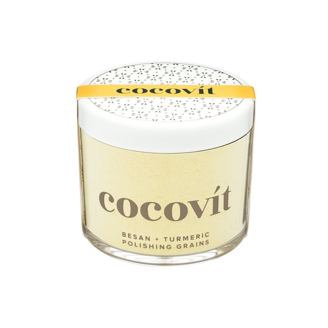Besan + Tumeric Polishing Grains | Cocovit | Credo Beauty