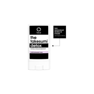 The Takesumi Detox Charcoal Deodorant Cold Pressed Rose