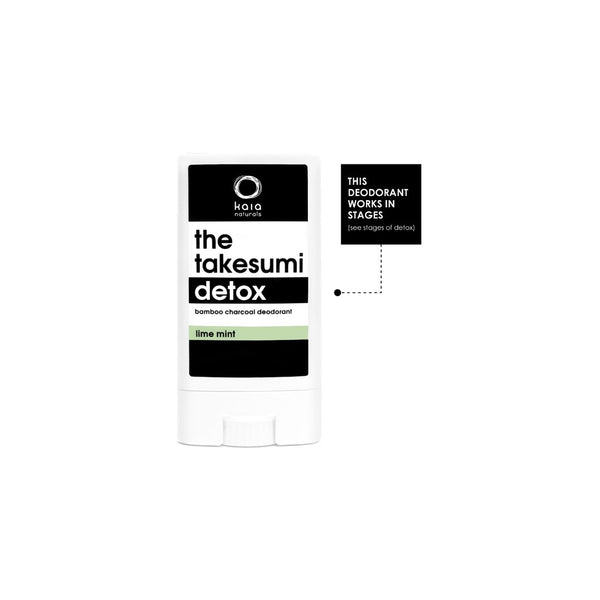 Kaia Naturals The Takesumi Detox Charcoal Deodorant Lime Mint