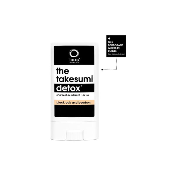 Kaia Naturals The Takesumi Detox Charcoal Deodorant Black Oak & Bourbon