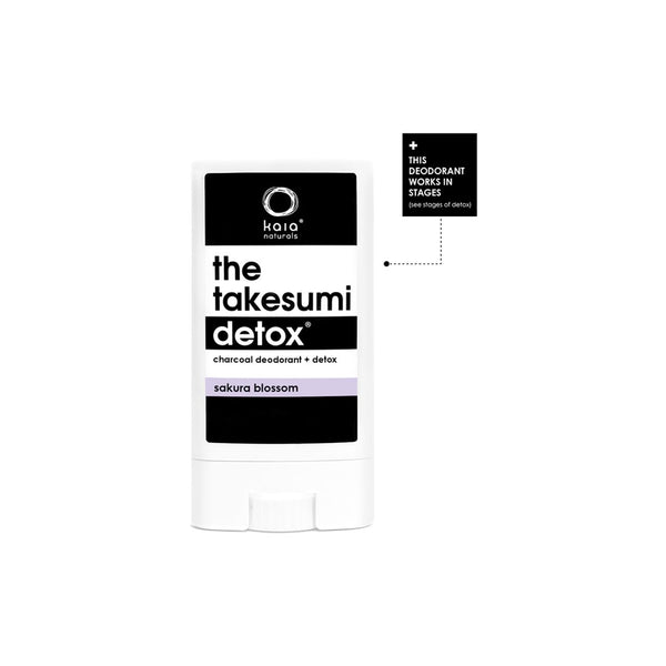 The Takesumi Detox Charcoal Deodorant Sakura Blossom | Kaia Naturals | Credo Beauty