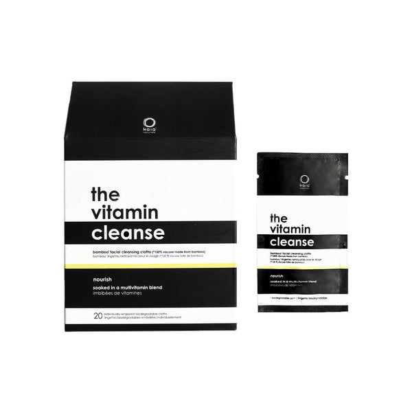 The Vitamin Cleanse Facial Cleansing Cloths To Go