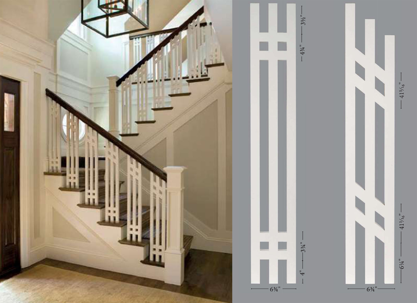 Harborside Mission Prairie Baluster Panels and Staircase