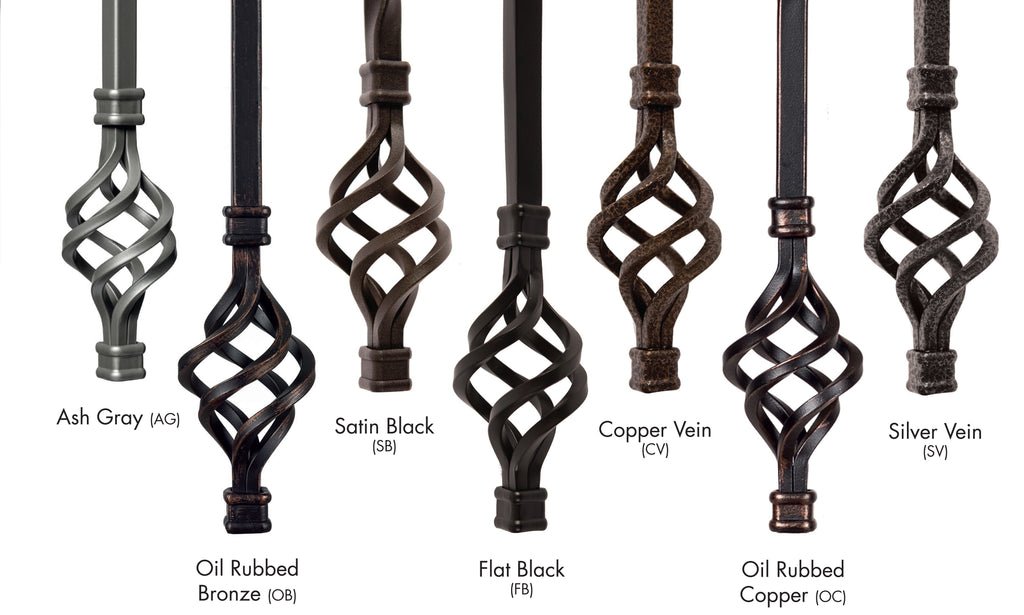 Available Wrought Iron Metal Finishes