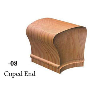 Wood Railings | Banister | 7608 Coped End Handrail Fitting-Handrails & Handrail Fittings-Amish Crafted by StepUP Stair Parts
