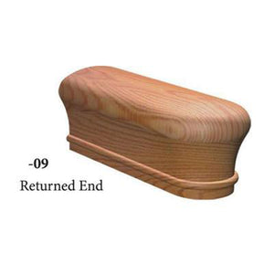 Wood Railings | Banister | 5609 Returned End Handrail Fitting-Handrails & Handrail Fittings-Amish Crafted by StepUP Stair Parts