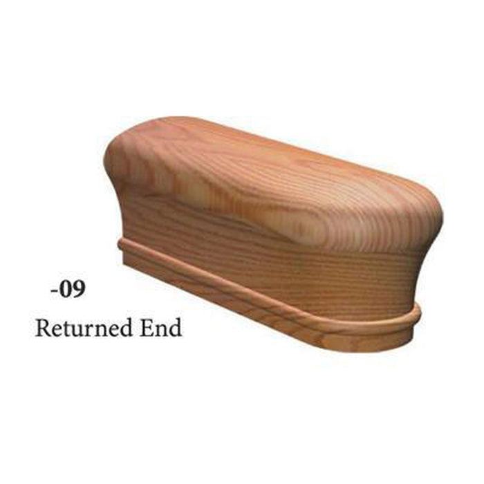 7509 Returned End Handrail Fitting  | Amish Wood Railings | Banister