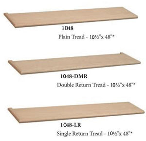 Premium Treads / Steps | USA Crafted 1048 Tread-Treads & Risers-Amish Craft by StepUP Stair Parts