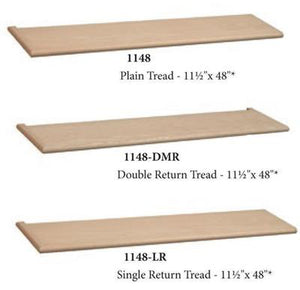 Premium Treads / Steps | USA Crafted 1148 Tread-Treads & Risers-Amish Craft by StepUP Stair Parts