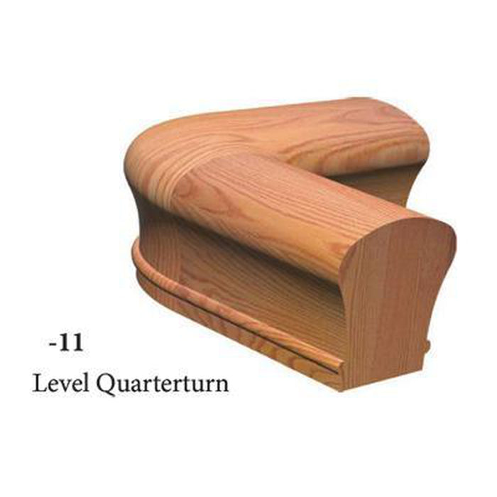 9111 Level 1/4 Turn Handrail Fitting  | Amish Wood Railings | Banister