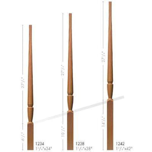 Baluster Spindle | Wood Railings | USA Crafted 1234 Pin Top Baluster-Turned Newels & Balusters-Amish Craft by StepUP Stair Parts