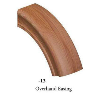 Wood Railings | Banister | 7513 Overhand Easing Handrail Fitting-Handrails & Handrail Fittings-Amish Crafted by StepUP Stair Parts