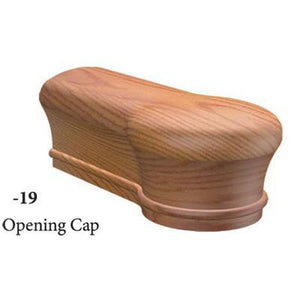 Wood Railings | Banister | 7619 Opening Cap Handrail Fitting-Handrails & Handrail Fittings-Amish Crafted by StepUP Stair Parts