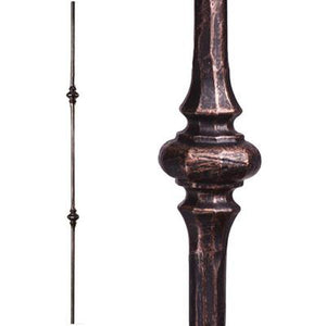 Metal Railing | Wrought Iron Spindle | 2.1.11 Tuscan Round Hammered Double Knuckle | Iron Balusters