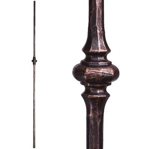 Metal Railing | Wrought Iron Spindle | 2.1.9 Tuscan Round Hammered Single Knuckle | Iron Balusters
