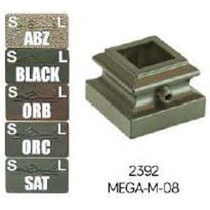 MEGA M-08 3/4 Flat Base Iron Shoe with Set Screw for MEGA Baluster-WM Coffman by StepUP Stair Parts