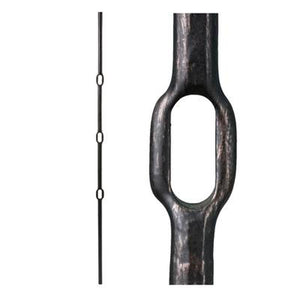 Metal Railing | Wrought Iron Spindle | 3.1.2 Wentworth Round Forged Triple Knuckle  Oil Rubbed Bronze| Iron Balusters