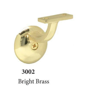 3002 Bright Brass Wall Handrail Bracket Accessories Amish Craft by StepUP Stair Parts