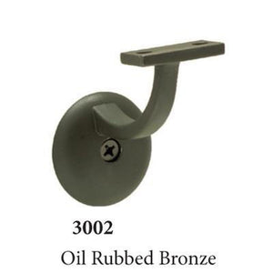 3002 Oil Rubbed Bronze Wall Handrail Bracket Accessories Amish Craft by StepUP Stair Parts