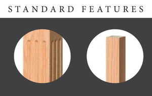 Newel Post | Railings | USA Crafted | 4001 Solid Square Newel-Turned Newels & Balusters-Amish Craft by StepUP Stair Parts