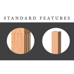 Newel Post | Railings | USA Crafted | 4004BT Ball Top Starting Newel-Turned Newels & Balusters-Amish Craft by StepUP Stair Parts