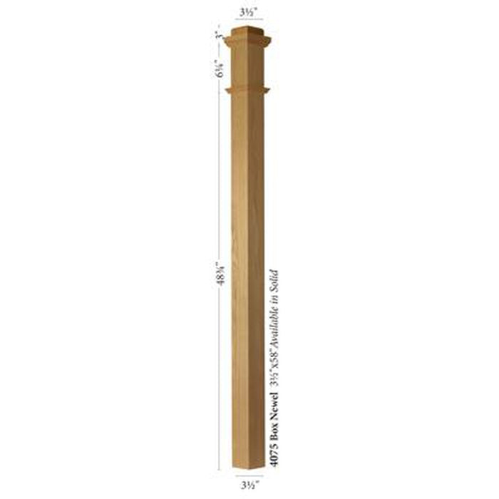 Newel Post | Railings | USA Crafted | 4075 Solid Box Newel