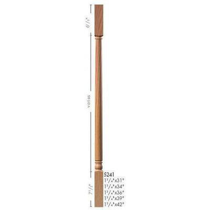 Baluster Spindle | Wood Railings | USA Crafted 5241 Square Top Baluster