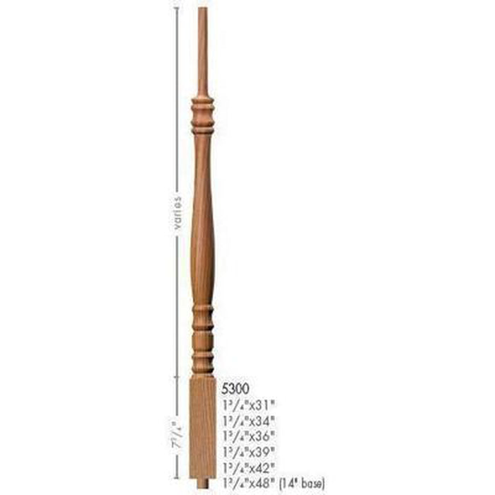 Baluster Spindle | Wood Railings | USA Crafted 5300 Pin Top Baluster