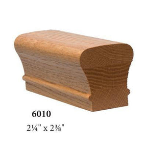 Wood Railings | Banister | 7091-2 Left Hand 2 Rise 180 Turn Gooseneck with Cap Handrail Fitting-Handrails & Handrail Fittings-Amish Crafted by StepUP Stair Parts