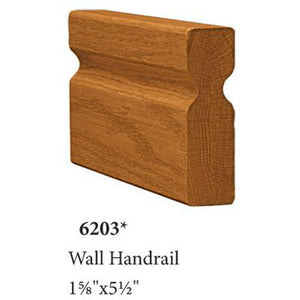 Wood Railings | Banister | 6203 Solid Handrail-Handrails & Handrail Fittings-Amish Craft by StepUP Stair Parts