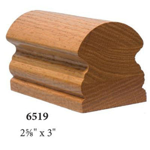 Wood Railings | Banister | 7531 Climbing Volute Handrail Fitting-Handrails & Handrail Fittings-Amish Crafted by StepUP Stair Parts