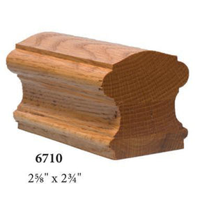 Wood Railings | Banister | 6710P Solid Plowed Handrail-Handrails & Handrail Fittings-Amish Craft by StepUP Stair Parts