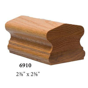 Wood Railings | Banister | 7976-2 Right Hand 2 Rise 1/4 Turn Gooseneck Handrail Fitting-Handrails & Handrail Fittings-Amish Crafted by StepUP Stair Parts
