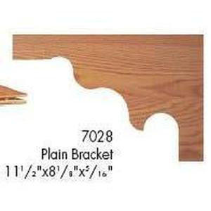Quality Railing & Stair Accessories | 7028 Plain Bracket-Accessories-Amish Craft by StepUP Stair Parts