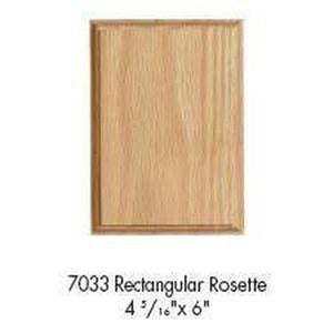 Quality Railing & Stair Accessories | 7033 Rectangular Rosette-Accessories-Amish Craft by StepUP Stair Parts