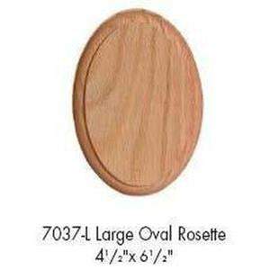 Quality Railing & Stair Accessories | 7037-L Large Oval Rosette-Accessories-Amish Craft by StepUP Stair Parts