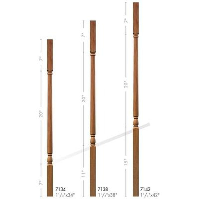 Baluster Spindle | Wood Railings | USA Crafted 7134 Square Top Baluster