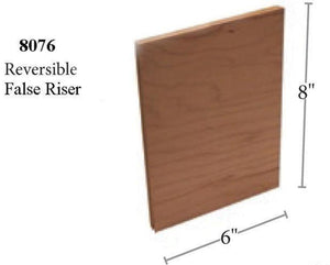 Premium Remodel | USA Crafted 8076 False Riser-Treads & Risers - False/Retrofit-Amish Craft by StepUP Stair Parts