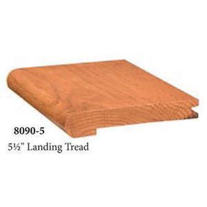 "Quality Nosing | USA Crafted 8090-5 5 1/2"" Landing Tread-Landing Treads-Amish Craft by StepUP Stair Parts"