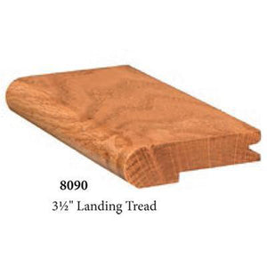 "Quality Nosing | USA Crafted 8090 3 1/2"" Landing Tread-Landing Treads-Amish Craft by StepUP Stair Parts"