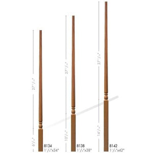 Baluster Spindle | Wood Railings | USA Crafted 8134 Pin Top Baluster-Turned Newels & Balusters-Amish Craft by StepUP Stair Parts